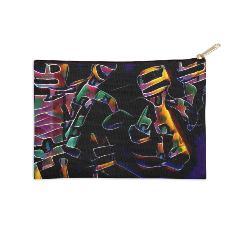 Neon Robots Accessories Zip Pouch by Artdrips's Artist Shop
