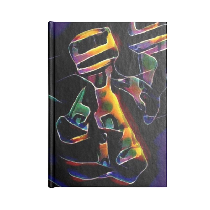 Neon Robots Accessories Lined Journal Notebook by Artdrips's Artist Shop