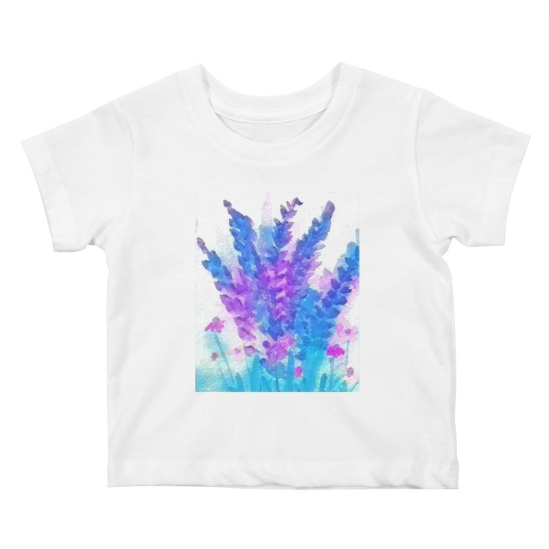 Wild flowers in Mauve Kids Baby T-Shirt by Artdrips's Artist Shop