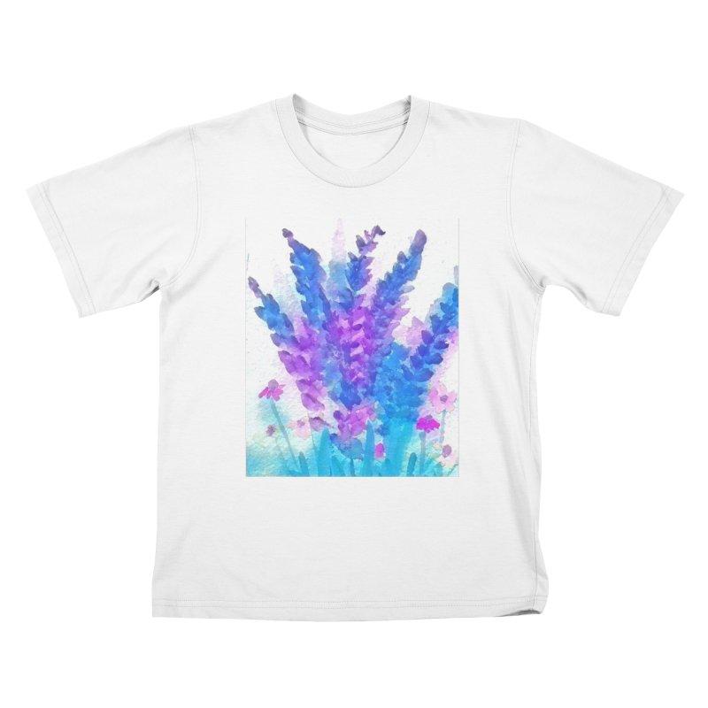 Wild flowers in Mauve Kids T-Shirt by Artdrips's Artist Shop