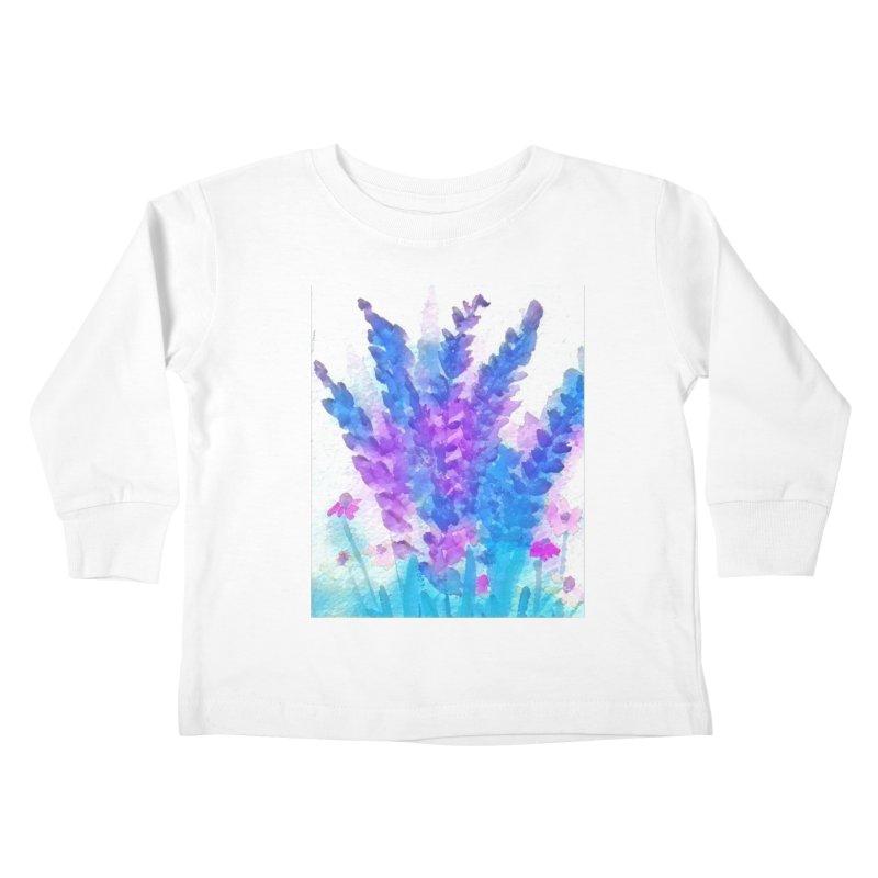 Wild flowers in Mauve Kids Toddler Longsleeve T-Shirt by Artdrips's Artist Shop