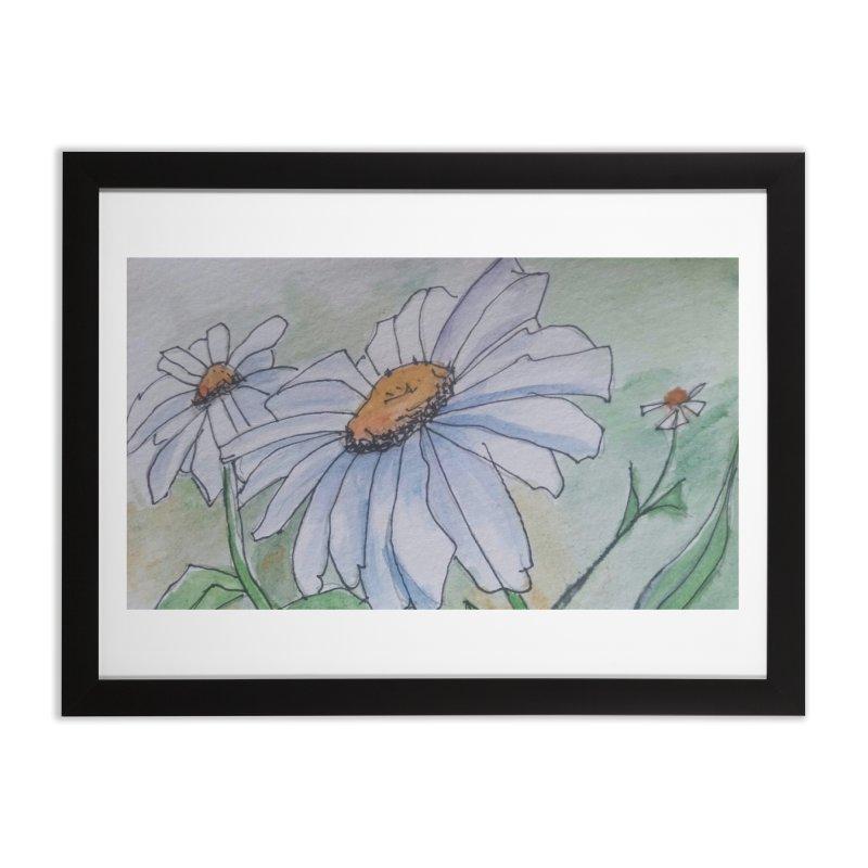 Daisy Home Framed Fine Art Print by Artdrips's Artist Shop