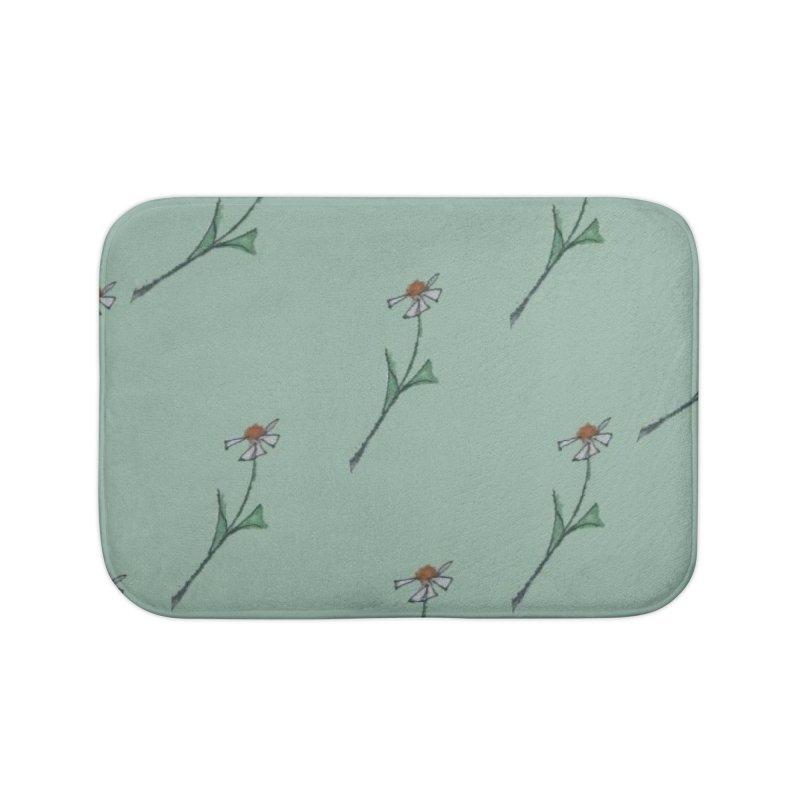 Daisy Pattern Home Bath Mat by Artdrips's Artist Shop