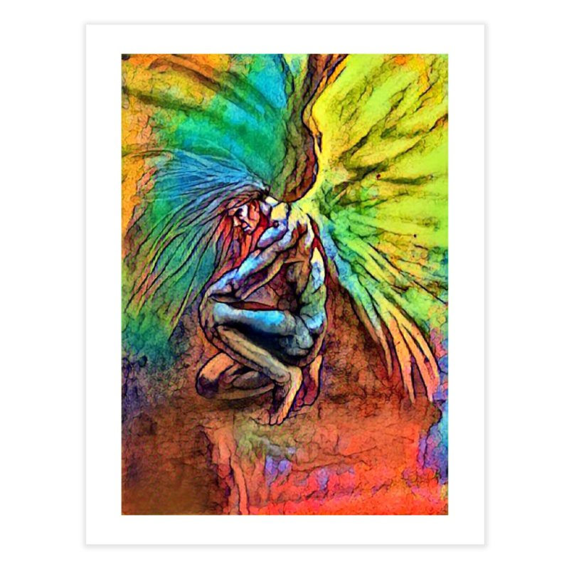 Angel Home Fine Art Print by Artdrips's Artist Shop
