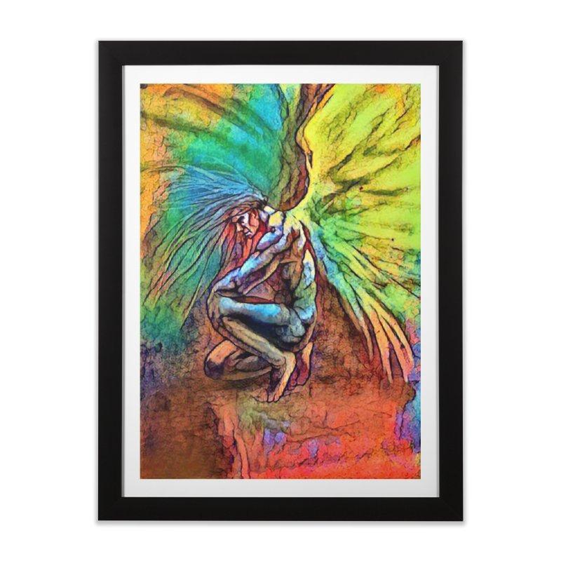 Angel Home Framed Fine Art Print by Artdrips's Artist Shop