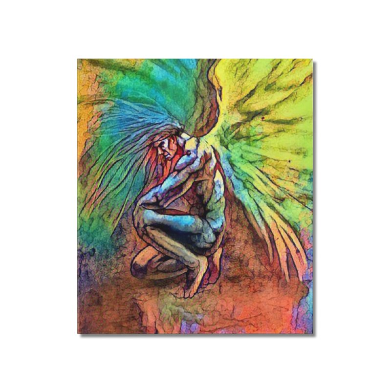 Angel Home Mounted Acrylic Print by Artdrips's Artist Shop