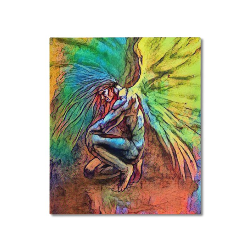 Angel Home Mounted Aluminum Print by Artdrips's Artist Shop