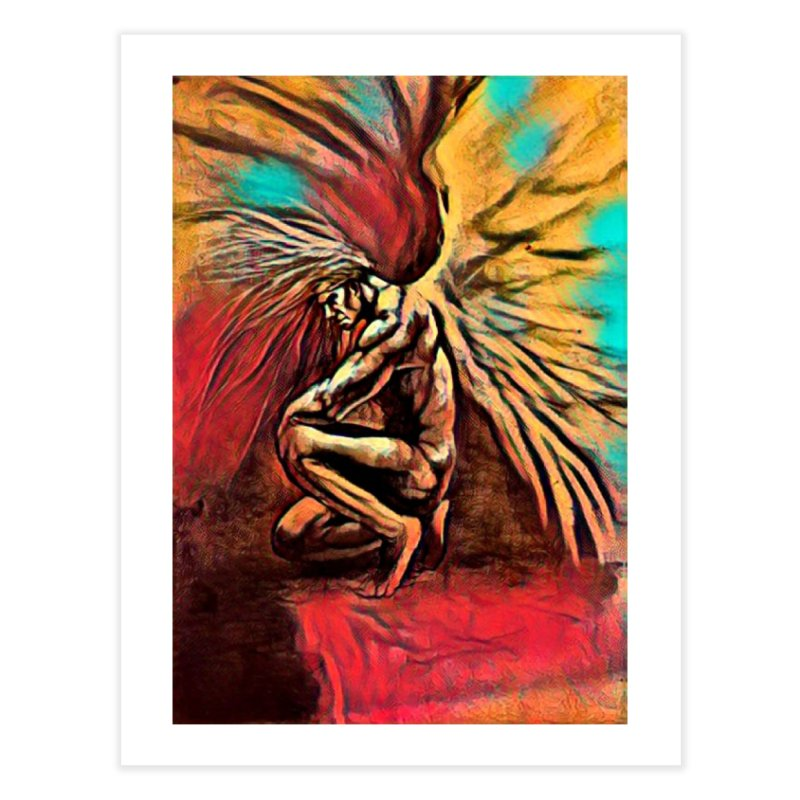 Angel Watcher Home Fine Art Print by Artdrips's Artist Shop