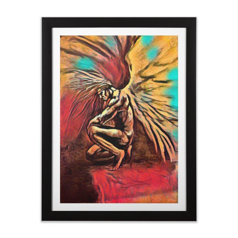 Angel Watcher Home Framed Fine Art Print by Artdrips's Artist Shop