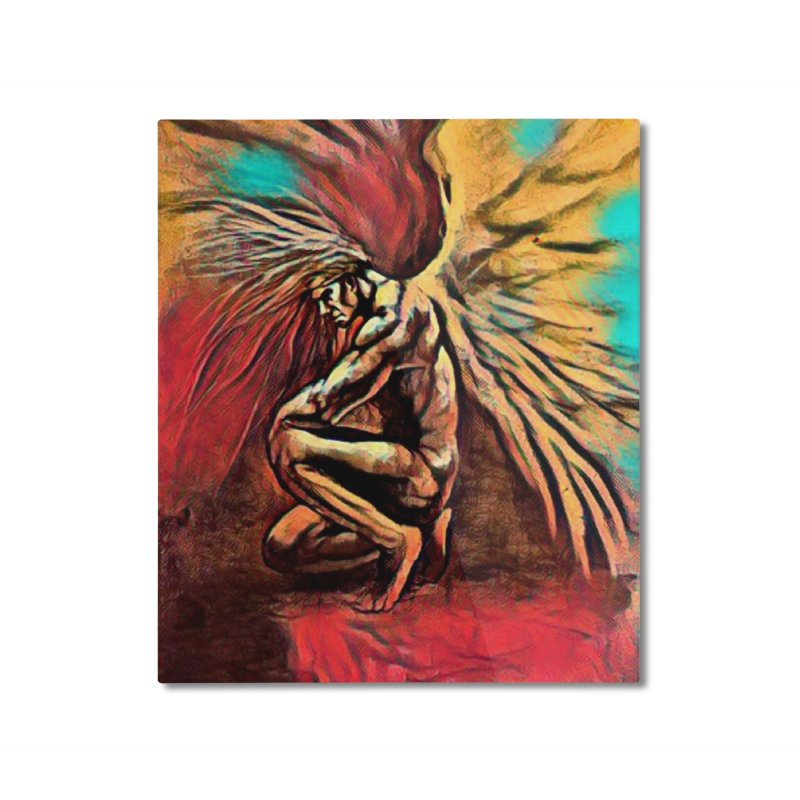 Angel Watcher Home Mounted Aluminum Print by Artdrips's Artist Shop