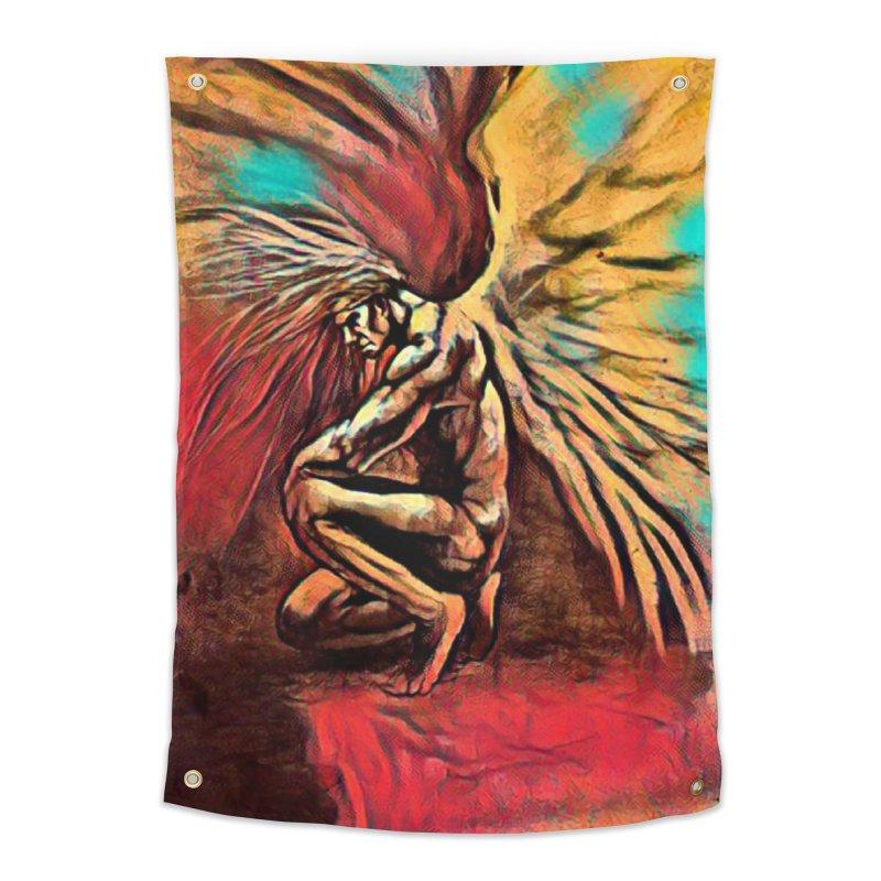 Angel Watcher Home Tapestry by Artdrips's Artist Shop