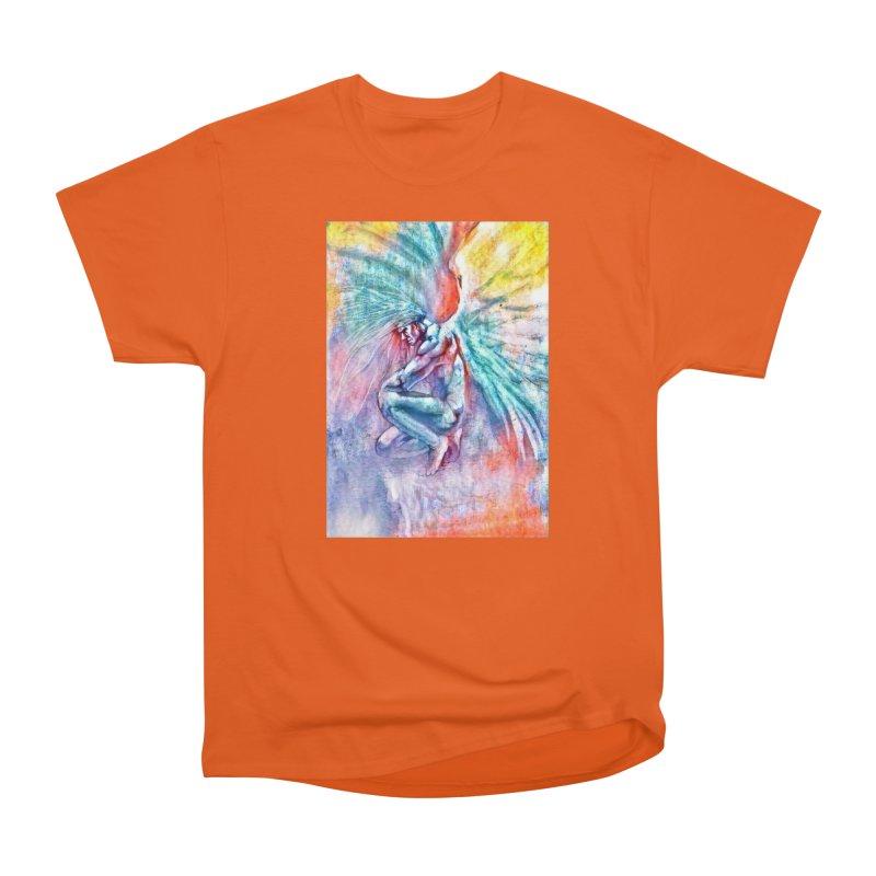 Angel in Colour in Women's Heavyweight Unisex T-Shirt Orange Poppy by Artdrips's Artist Shop