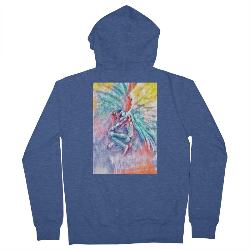 Angel in Colour in Men's French Terry Zip-Up Hoody Heather Royal by Artdrips's Artist Shop