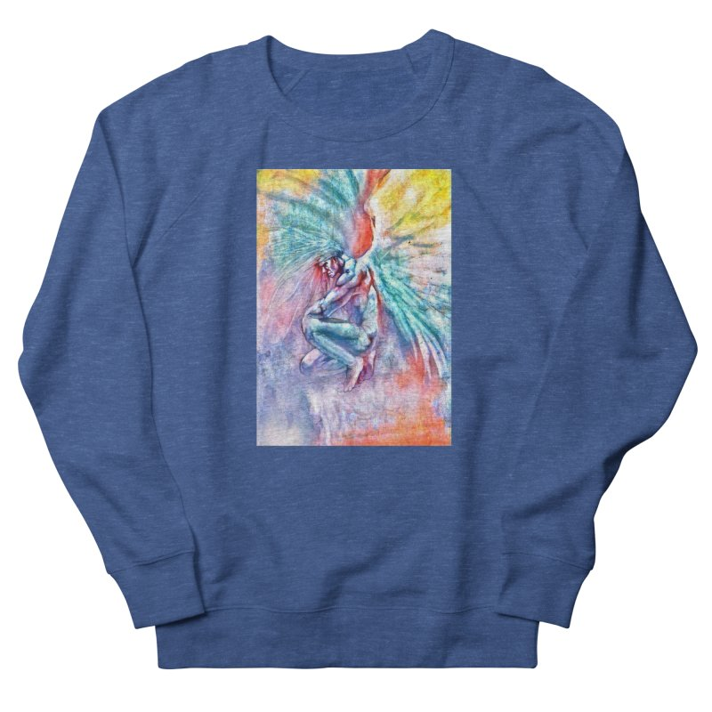 Angel in Colour in Men's French Terry Sweatshirt Heather Royal by Artdrips's Artist Shop