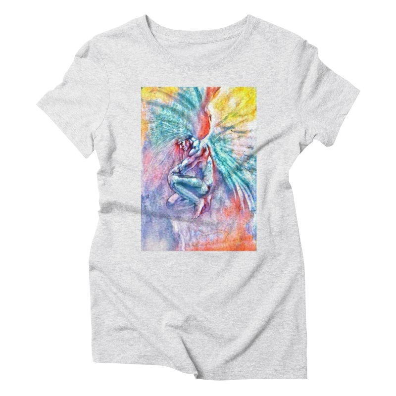 Angel in Colour in Women's Triblend T-Shirt Heather White by Artdrips's Artist Shop