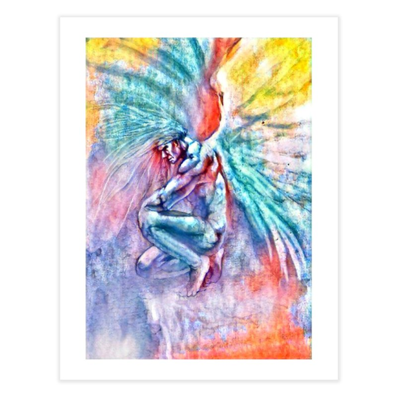 Angel in Colour Home Fine Art Print by Artdrips's Artist Shop