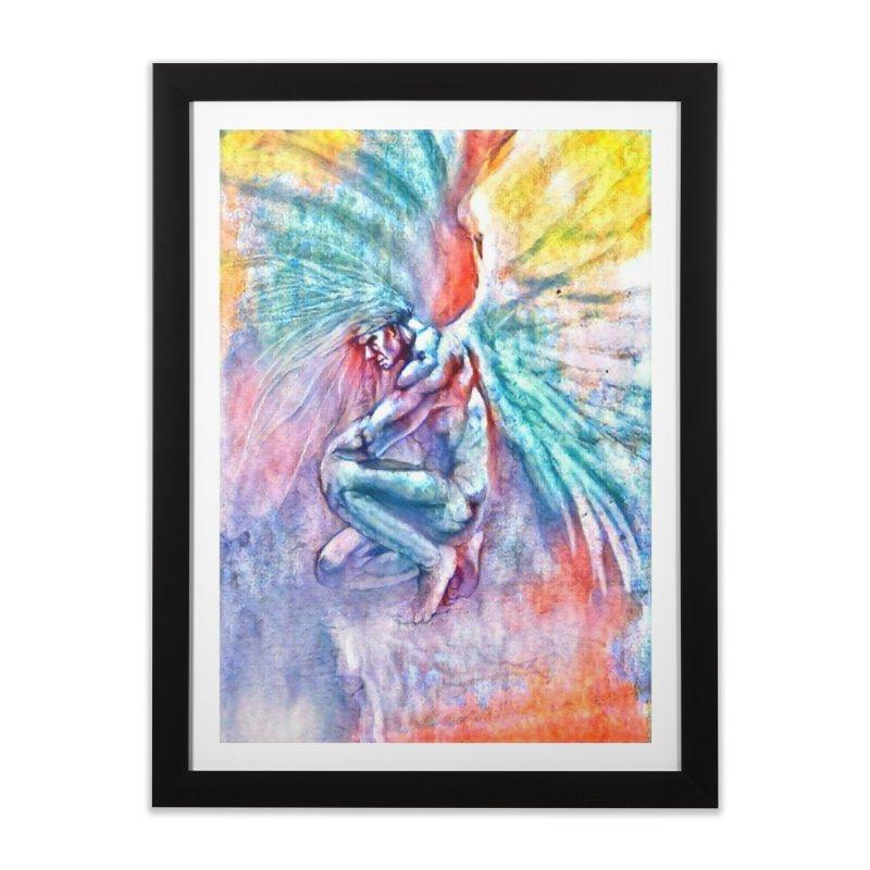 Angel in Colour Home Framed Fine Art Print by Artdrips's Artist Shop