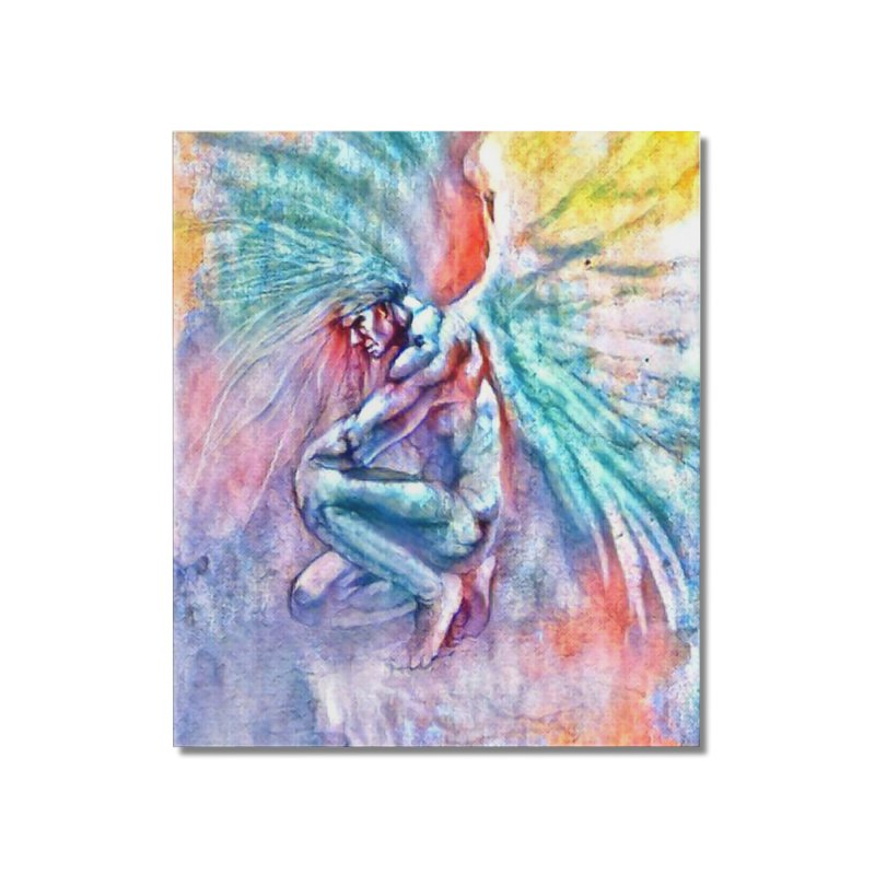 Angel in Colour Home Mounted Acrylic Print by Artdrips's Artist Shop