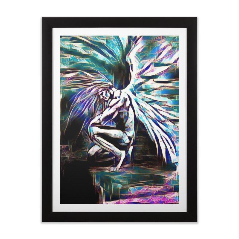 Angel Electric Home Framed Fine Art Print by Artdrips's Artist Shop