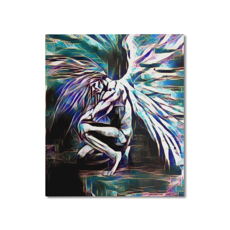 Angel Electric Home Mounted Aluminum Print by Artdrips's Artist Shop