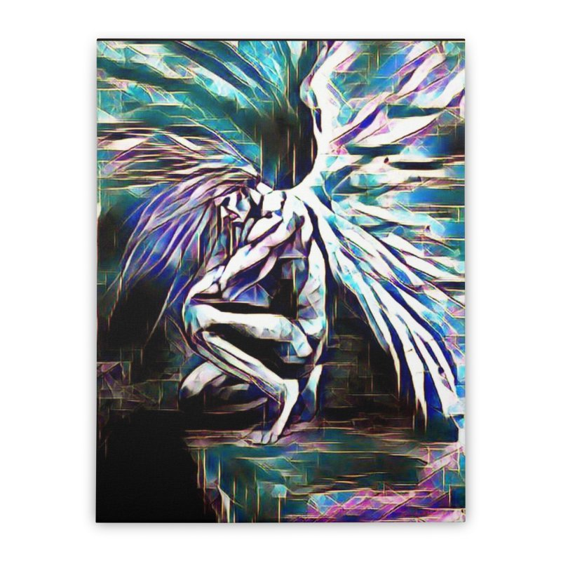 Angel Electric Home Stretched Canvas by Artdrips's Artist Shop