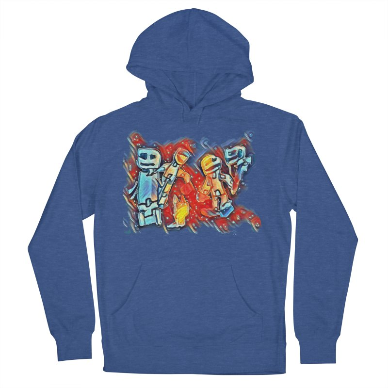 Robot Crew Men's French Terry Pullover Hoody by Artdrips's Artist Shop