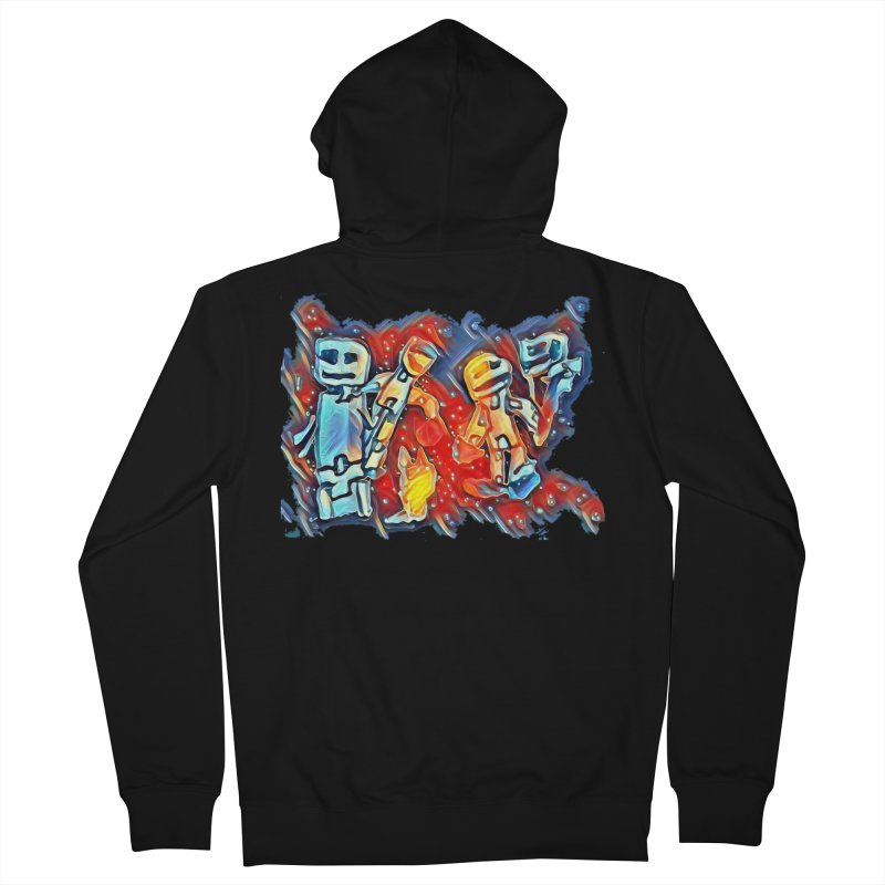Robot Crew Men's French Terry Zip-Up Hoody by Artdrips's Artist Shop