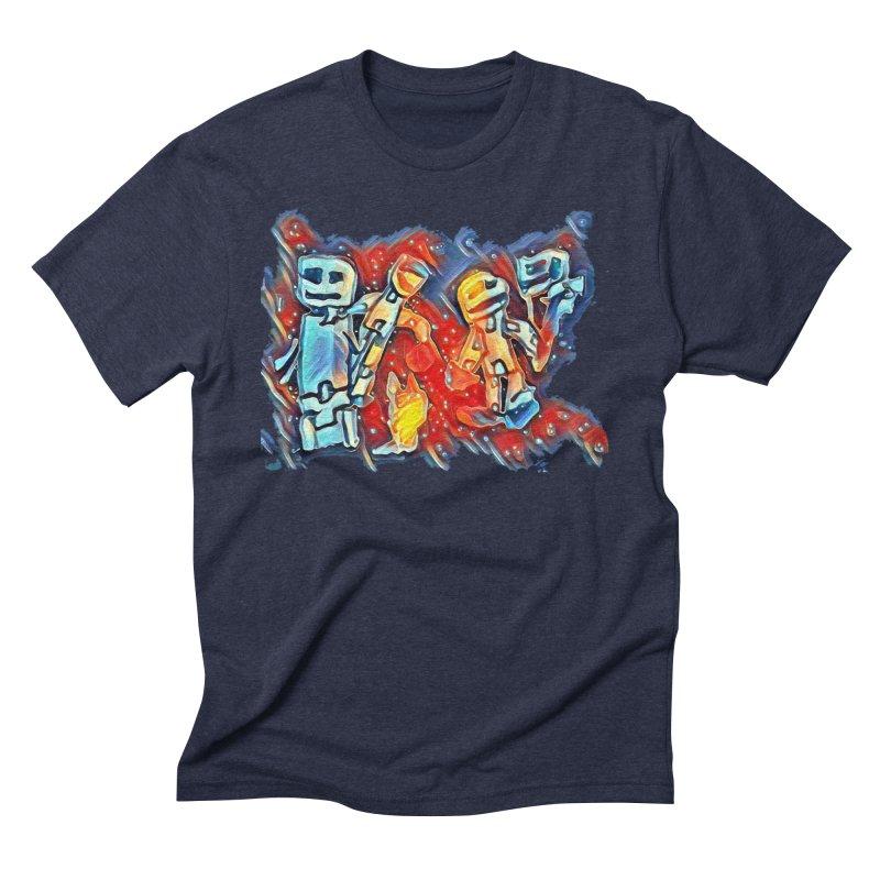 Robot Crew Men's Triblend T-Shirt by Artdrips's Artist Shop