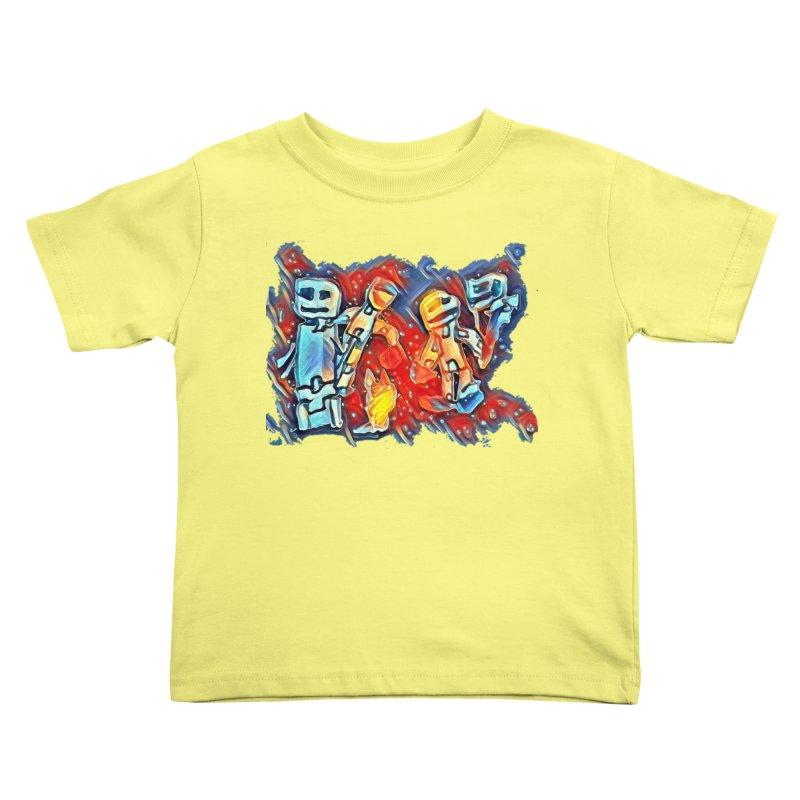 Robot Crew Kids Toddler T-Shirt by Artdrips's Artist Shop