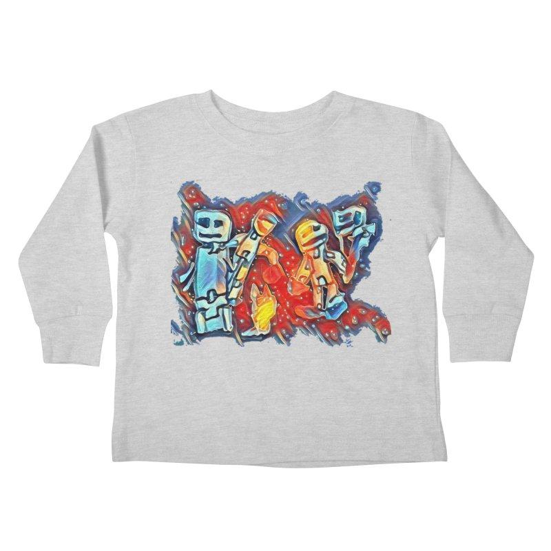 Robot Crew Kids Toddler Longsleeve T-Shirt by Artdrips's Artist Shop