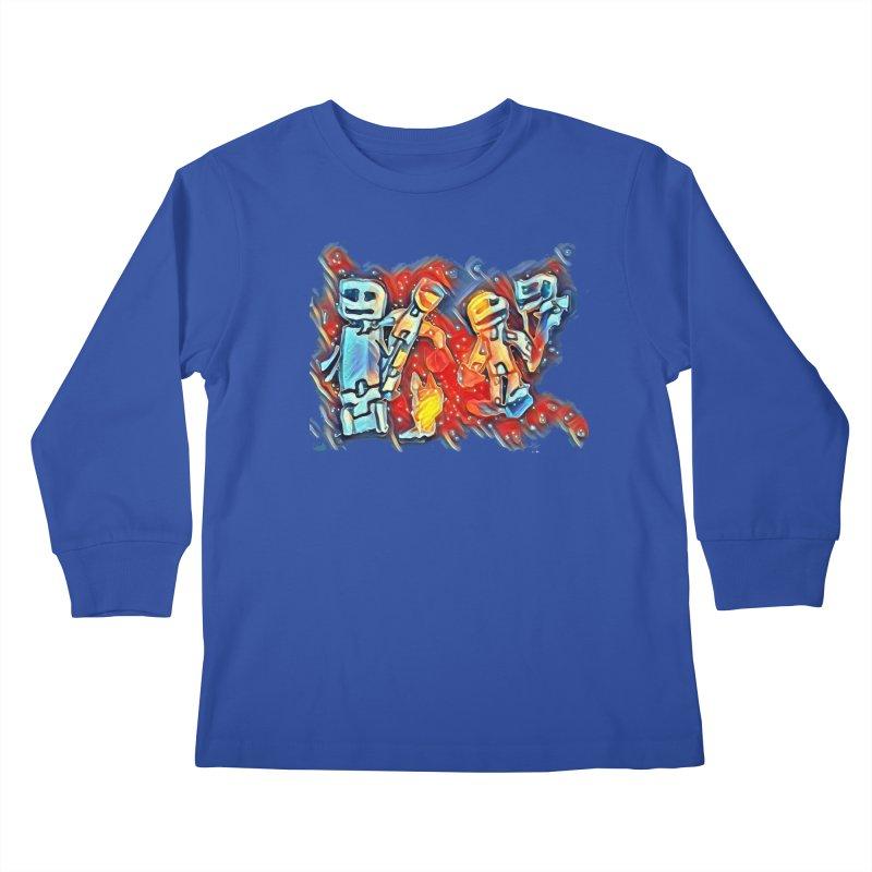 Robot Crew Kids Longsleeve T-Shirt by Artdrips's Artist Shop