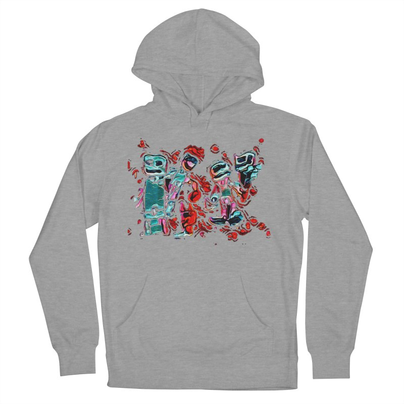 Robot Gang Men's French Terry Pullover Hoody by Artdrips's Artist Shop
