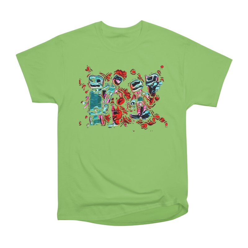 Robot Gang Men's Heavyweight T-Shirt by Artdrips's Artist Shop