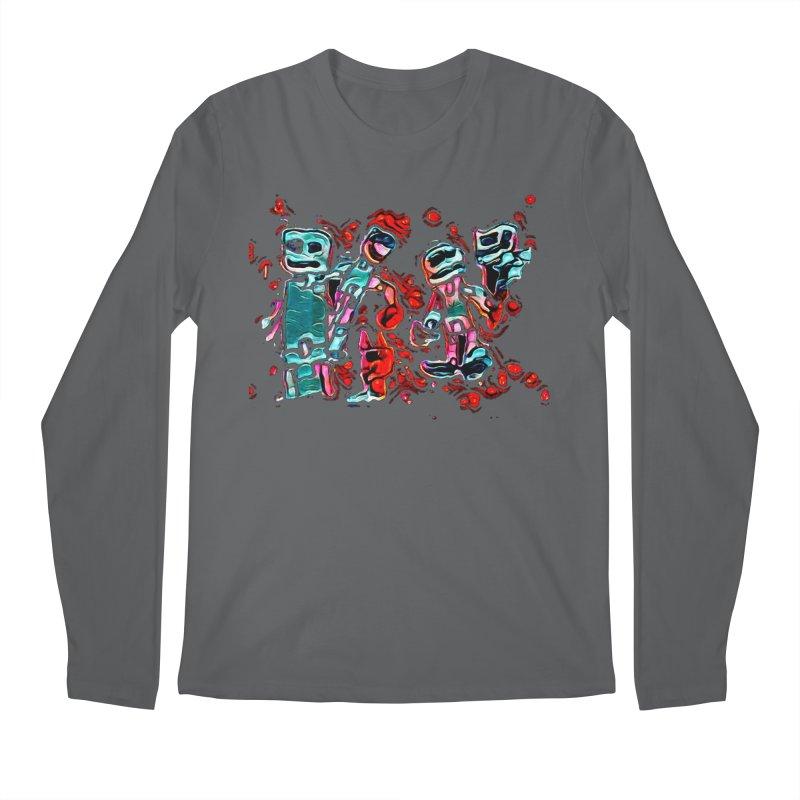 Robot Gang Men's Regular Longsleeve T-Shirt by Artdrips's Artist Shop