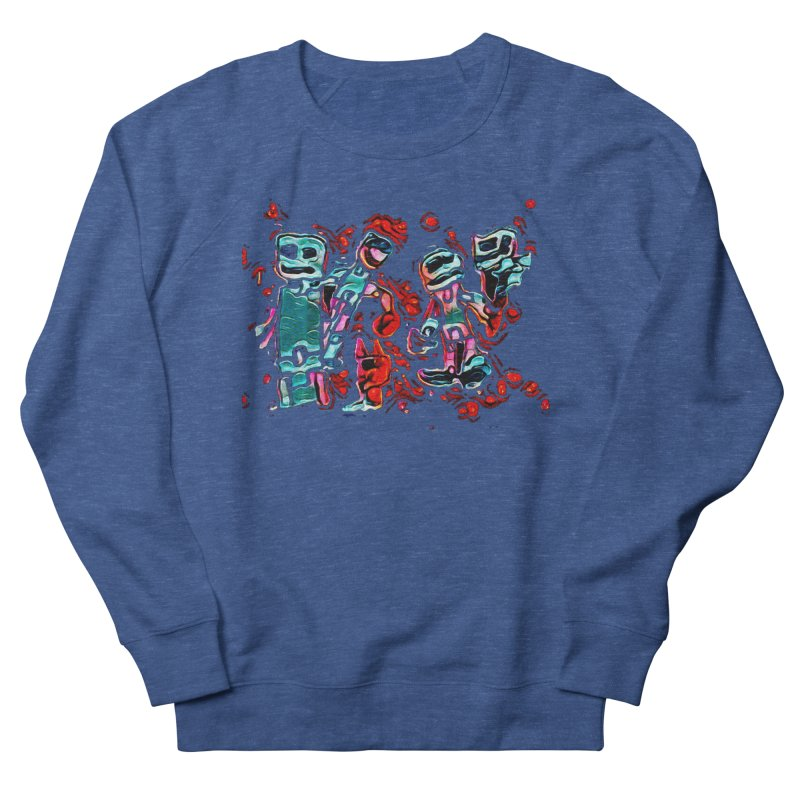 Robot Gang Men's French Terry Sweatshirt by Artdrips's Artist Shop