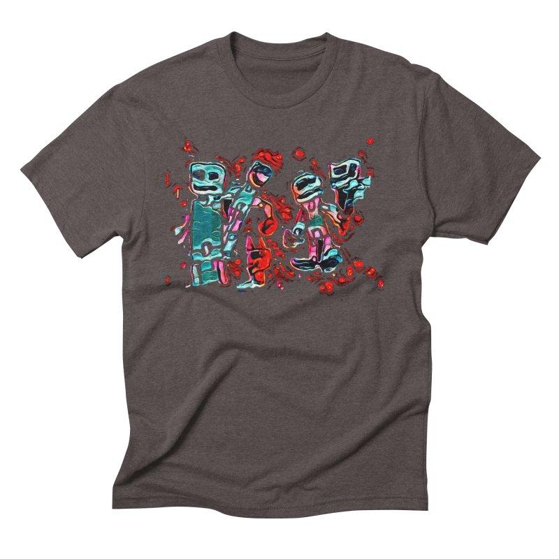 Robot Gang Men's Triblend T-Shirt by Artdrips's Artist Shop