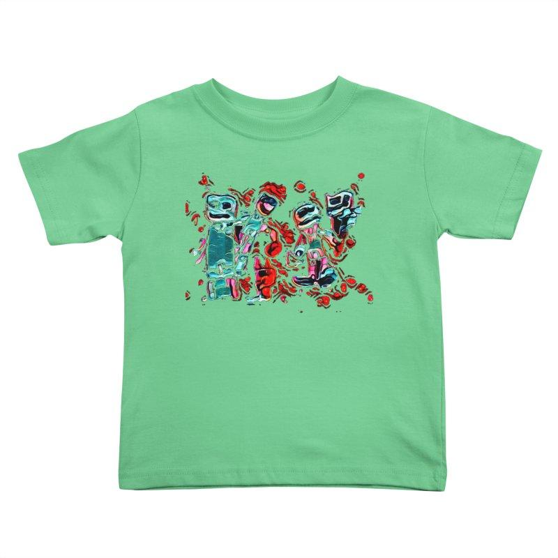 Robot Gang Kids Toddler T-Shirt by Artdrips's Artist Shop