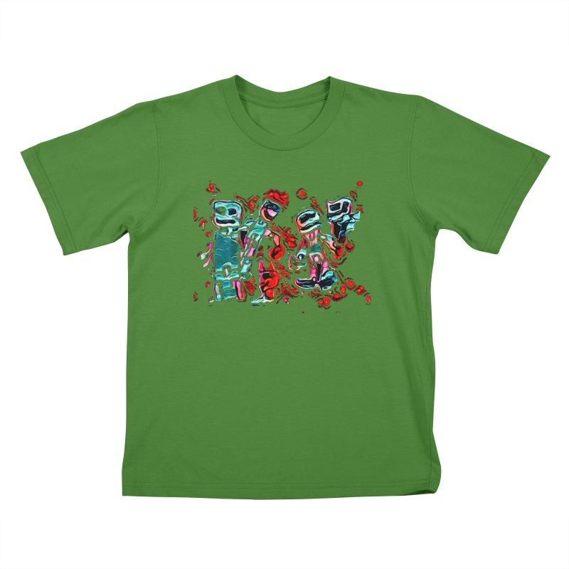Robot Gang Kids T-Shirt by Artdrips's Artist Shop