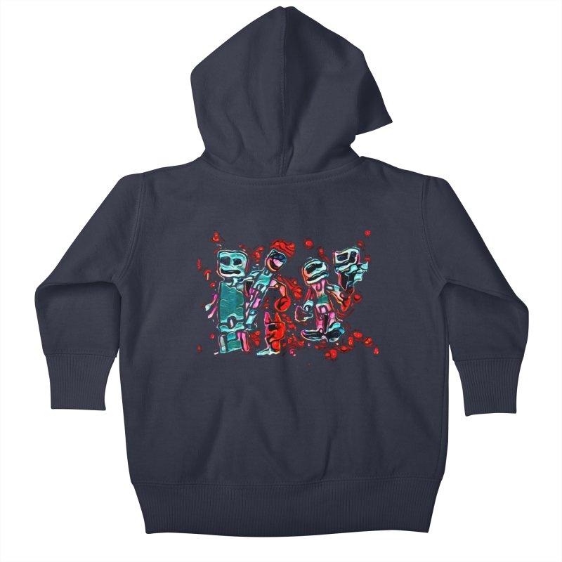 Robot Gang Kids Baby Zip-Up Hoody by Artdrips's Artist Shop