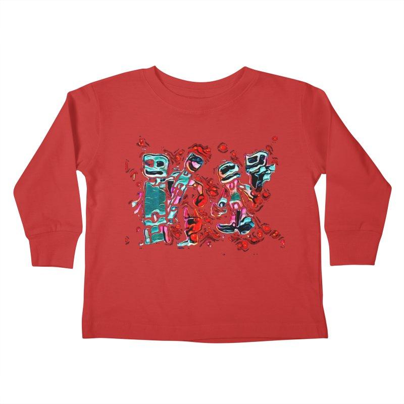 Robot Gang Kids Toddler Longsleeve T-Shirt by Artdrips's Artist Shop