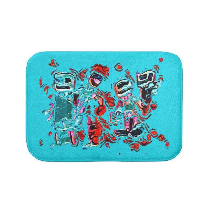 Robot Gang Home Bath Mat by Artdrips's Artist Shop