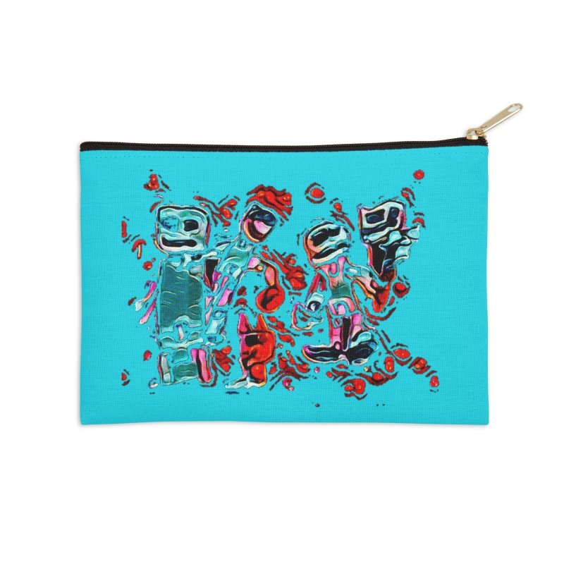 Robot Gang Accessories Zip Pouch by Artdrips's Artist Shop