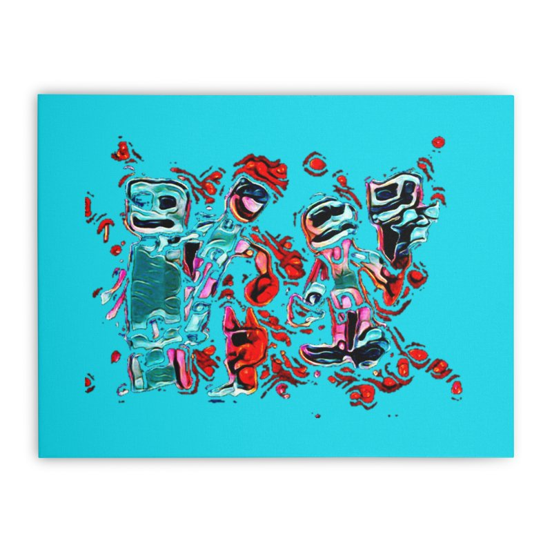 Robot Gang in Stretched Canvas by Artdrips's Artist Shop
