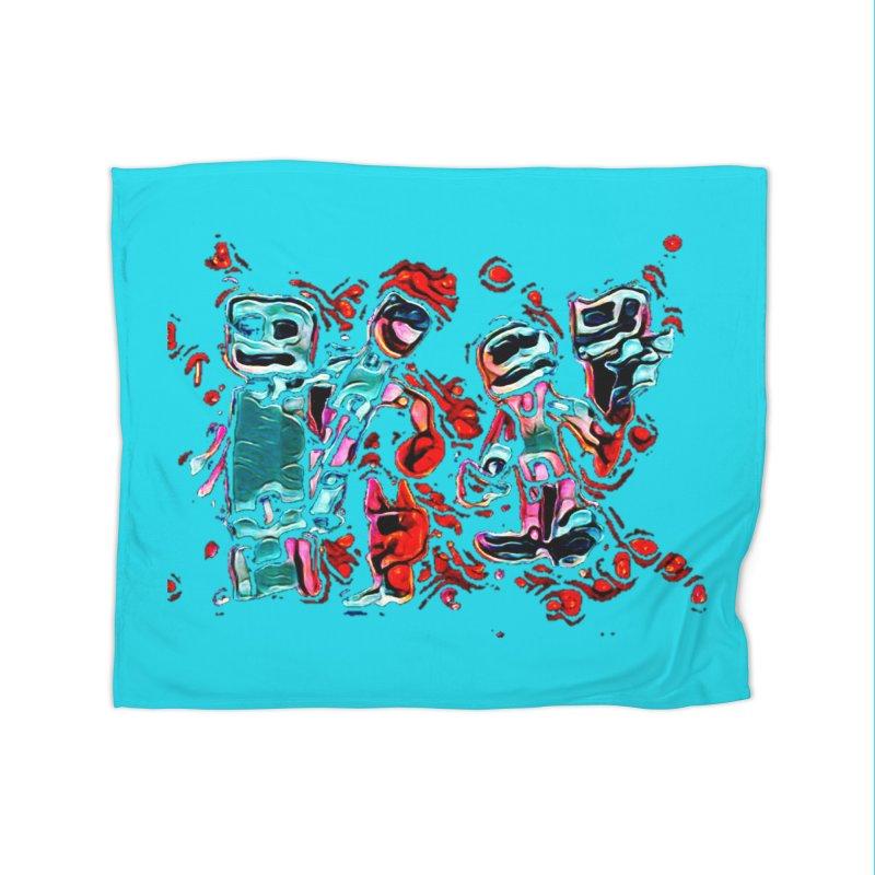Robot Gang Home Blanket by Artdrips's Artist Shop