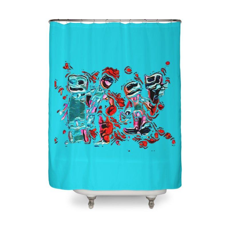 Robot Gang Home Shower Curtain by Artdrips's Artist Shop