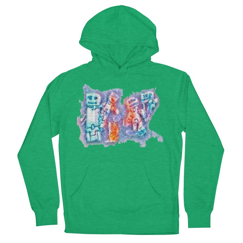 Robot Friends Women's French Terry Pullover Hoody by Artdrips's Artist Shop