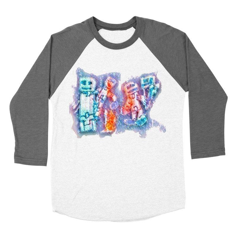 Robot Friends Women's Baseball Triblend Longsleeve T-Shirt by Artdrips's Artist Shop