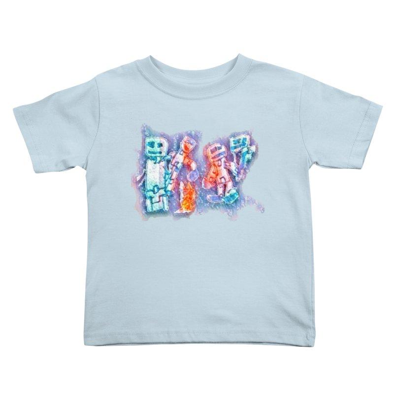 Robot Friends Kids Toddler T-Shirt by Artdrips's Artist Shop