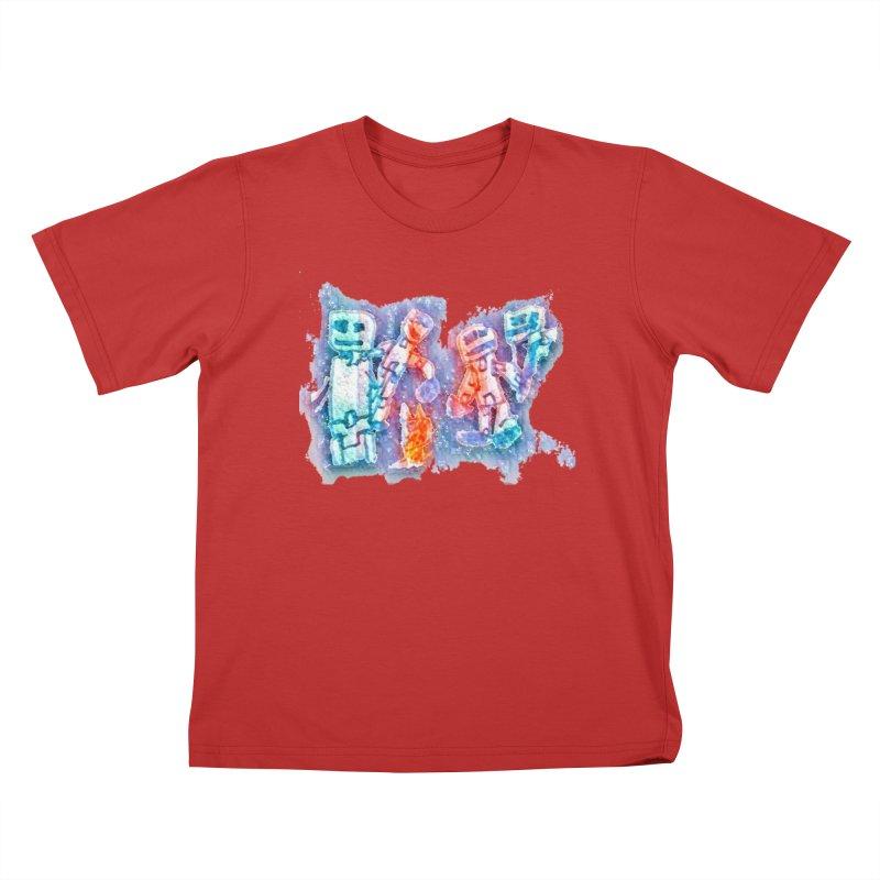 Robot Friends Kids T-Shirt by Artdrips's Artist Shop
