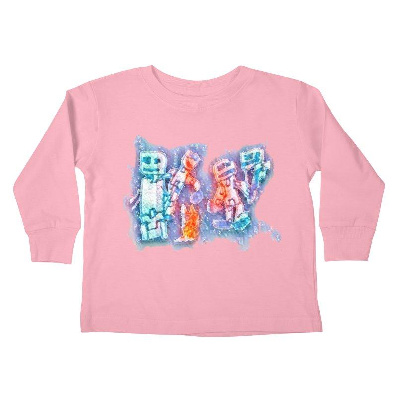 Robot Friends Kids Toddler Longsleeve T-Shirt by Artdrips's Artist Shop